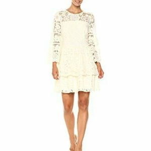 Kensie Women's Striped Floral Lace Dress